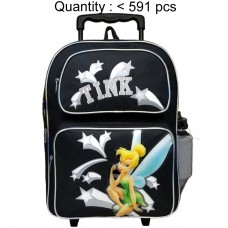 Tinker Bell Star Large Rolling Backpack with Water Bottle #35342