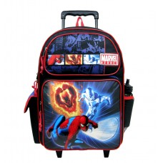 Spider-Man Marvel Heroes Large Rolling Backpack with Water Bottle #39389