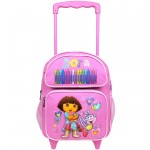 Dora the Explorer Crayon Small Rolling Backpack #41004PK