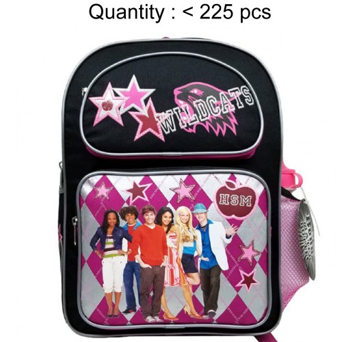 High School Musical Plaid Medium Backpack with Water Bottle #56857