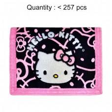 Hello Kitty Glitter Black Trifold Wallet #81426