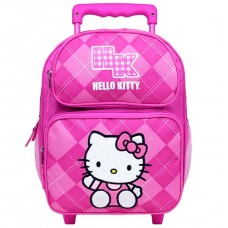 bc66533b6 Hello Kitty Argyle Pink Small Rolling Backpack #82071