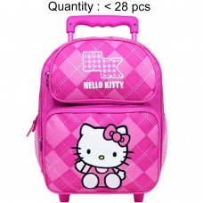 Hello Kitty Argyle Pink Small Rolling Backpack #82071