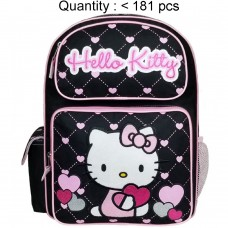 Hello Kitty Heart Black Large Backpack #83074