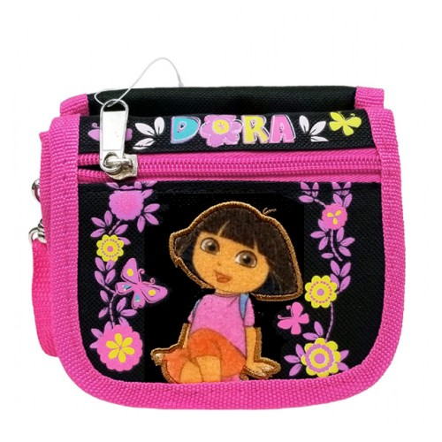 Dora the Explorer Flower Black String Wallet #A02778