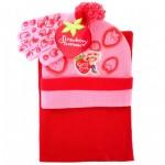 Strawberry Shortcake Berry Cool 3pcs Set (Beanie, Glove, Scarf) #AGKS5308P-3