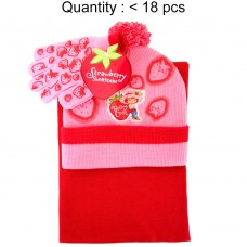 Strawberry Shortcake Berry Cool 3pcs Set (Beanie, Glove, Scarf) #AGKS5308P-3