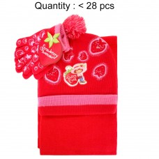 Strawberry Shortcake Berry Cool 3pcs Set (Beanie, Glove, Scarf) #AGKS5308R-3
