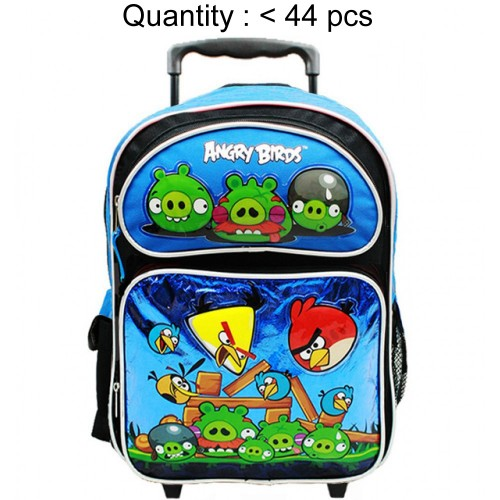 Angry Birds Attack Large Rolling Backpack (Blue) #AN10861B
