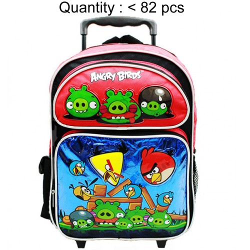 Angry Birds Attack Large Rolling Backpack (Red) #AN10861R
