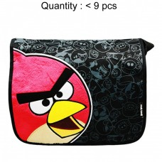 Angry Birds Black Large Messenger Bag #AN7484