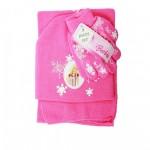 Barbie New 3pcs Set (Beanie, Glove, Scarf) #BB71134