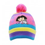 Dora the Explorer & Boots Multi Stripe Beanie #DGKH2971R