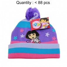 Dora the Explorer & Boots Multi Stripe Beanie #DGKH2971U