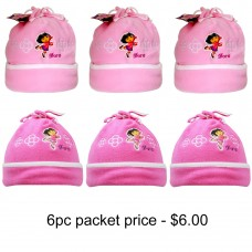 Dora the Explorer Fleece Beanie Pack of 6 #DTFH2071-PACK