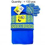 Sponge Bob Wink 3pcs Set (Beanie, Glove, Scarf) #EBKS5117-3