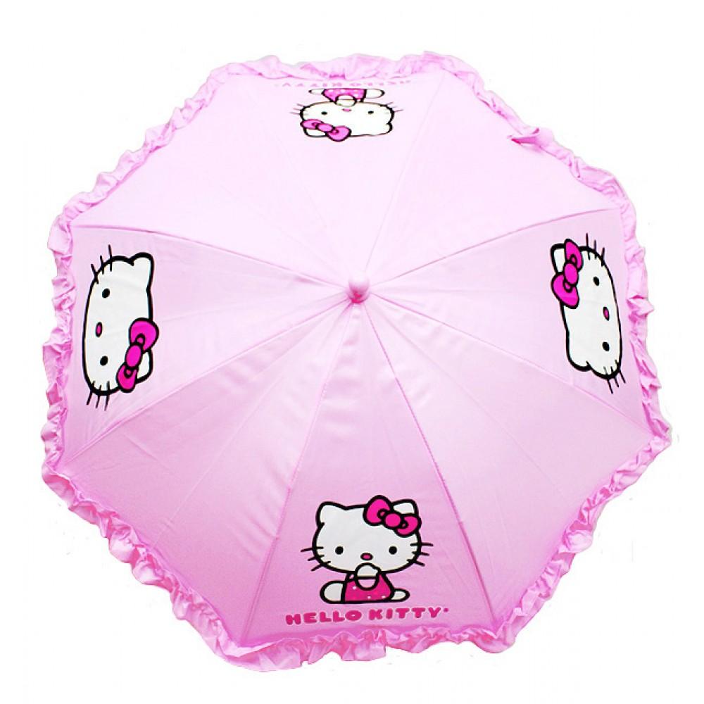 Hello Kitty Cuddle Pillow: Hello Kitty Ruffle Umbrella Pink #HEK556R