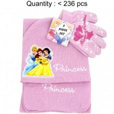Princess Big Pic 3pcs Set (Beanie, Glove, Scarf) #PRT74360