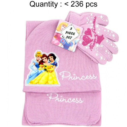 Princess Big Pic 3pcs Set (Beanie, Glove, Scarf) #PRT74360
