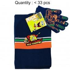 Sponge Bob Go Long 3pcs Set (Beanie, Glove, Scarf) #SB65113B-3