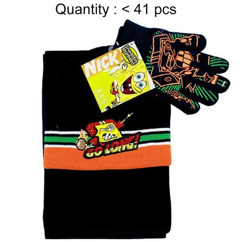 Sponge Bob Go Long 3pcs Set (Beanie, Glove, Scarf) #SB65113K-3