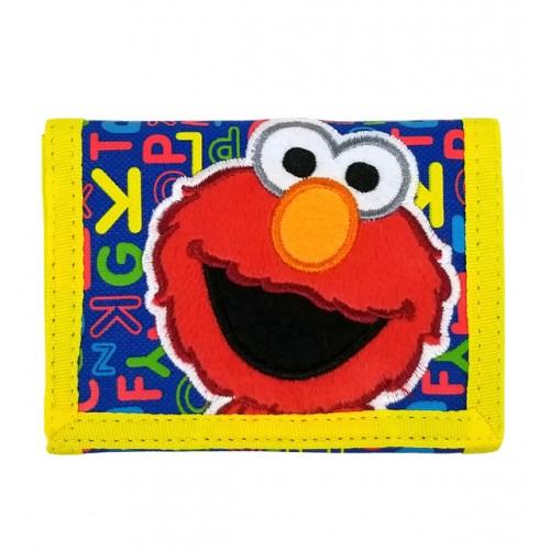 Sesame Street Elmo Pop Yellow Trifold Wallet #SS16389