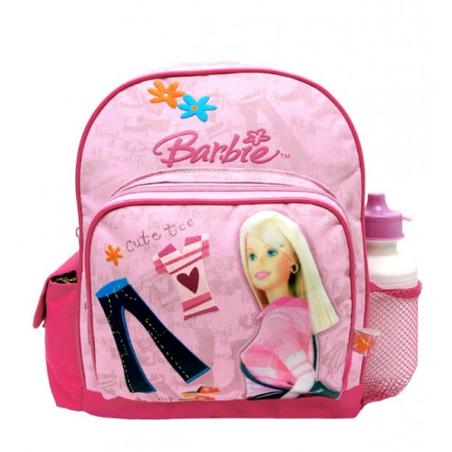 Barbie Cute Tee Small Backpack with Water Bottle #18453