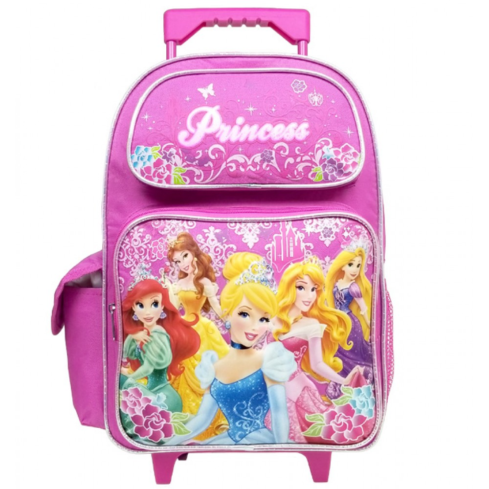 Princess Magic Castle Large Rolling Backpack A03887