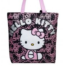 d92ad5dce41d Hello Kitty Glitter Black Tote Bag  81414
