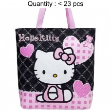 Hello Kitty Quilt Black Tote Bag #81587