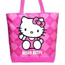 c3fedec74420 Hello Kitty Argyle Pink Tote Bag  82074