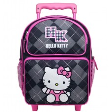 98de2b85f Hello Kitty Argyle Black Small Rolling Backpack #82082