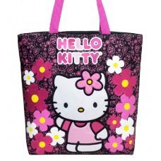 56b6ef44b4ee Hello Kitty Flower Black Tote Bag  82597