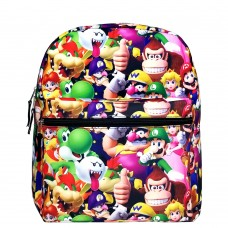 Super Mario Bros 3D All-Over Print Medium Backpack #NN43899