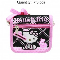 Hello Kitty Quilt Black String Wallet #81586
