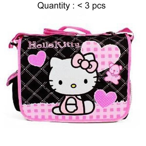 Hello Kitty Quilt Black Messenger Bag #81589