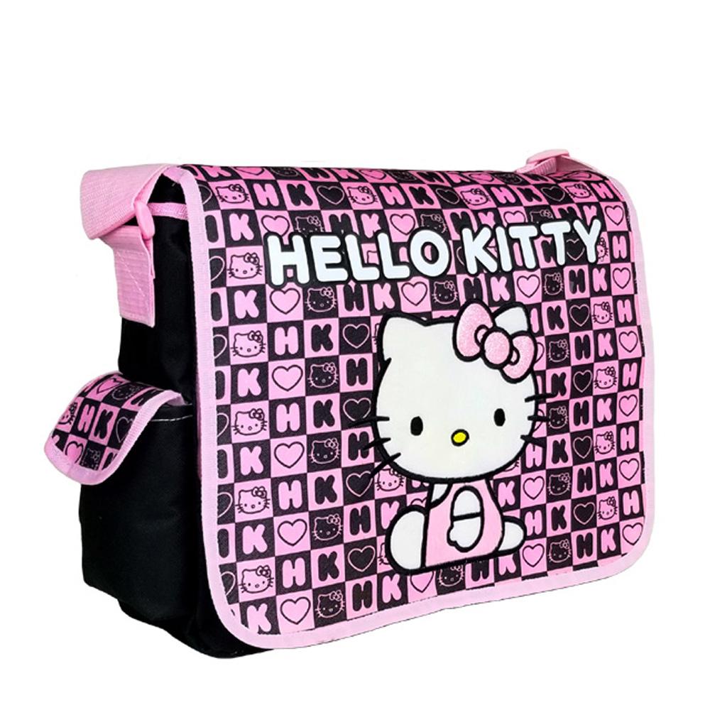 4f3c07fd99f1 Hello Kitty Dice Black Large Messenger Bag  82351