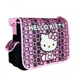 Hello Kitty Dice Black Large Messenger Bag #82351