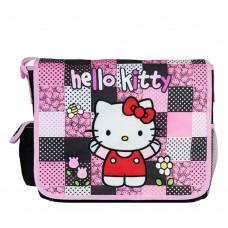 cfbc849e05b8 Hello Kitty Patch Black Large Messenger Bag  82519