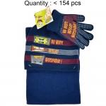 Sponge Bob Letter 3pcs Set (Beanie, Glove, Scarf) #EBKS5102B-3