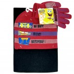 Sponge Bob Letter 3pcs Set (Beanie, Glove, Scarf) #EBKS5102R-3