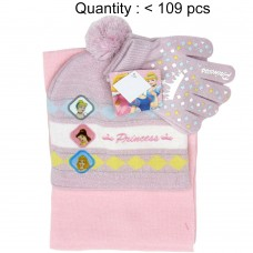 Princess Crown on Glove 3pcs Set (Beanie, Glove, Scarf) #PGKS3057-3